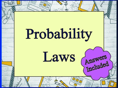 The Probability Laws for 'A' Level - With answers