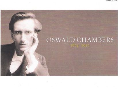 Oswald Chambers (1874-1917)   evangelist & teacher