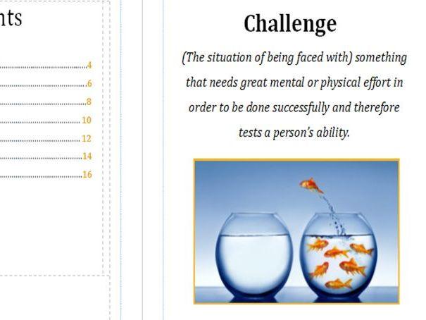 Challenge using thinkers keys