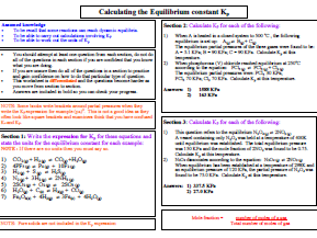 Chemical Equilibria Kp