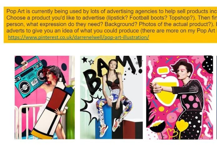 Advertising with Pop Art