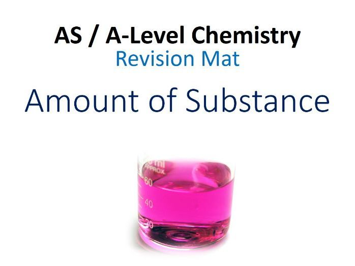 A-Level Chemistry - Amount of Substance (Calculations) Revision Mat