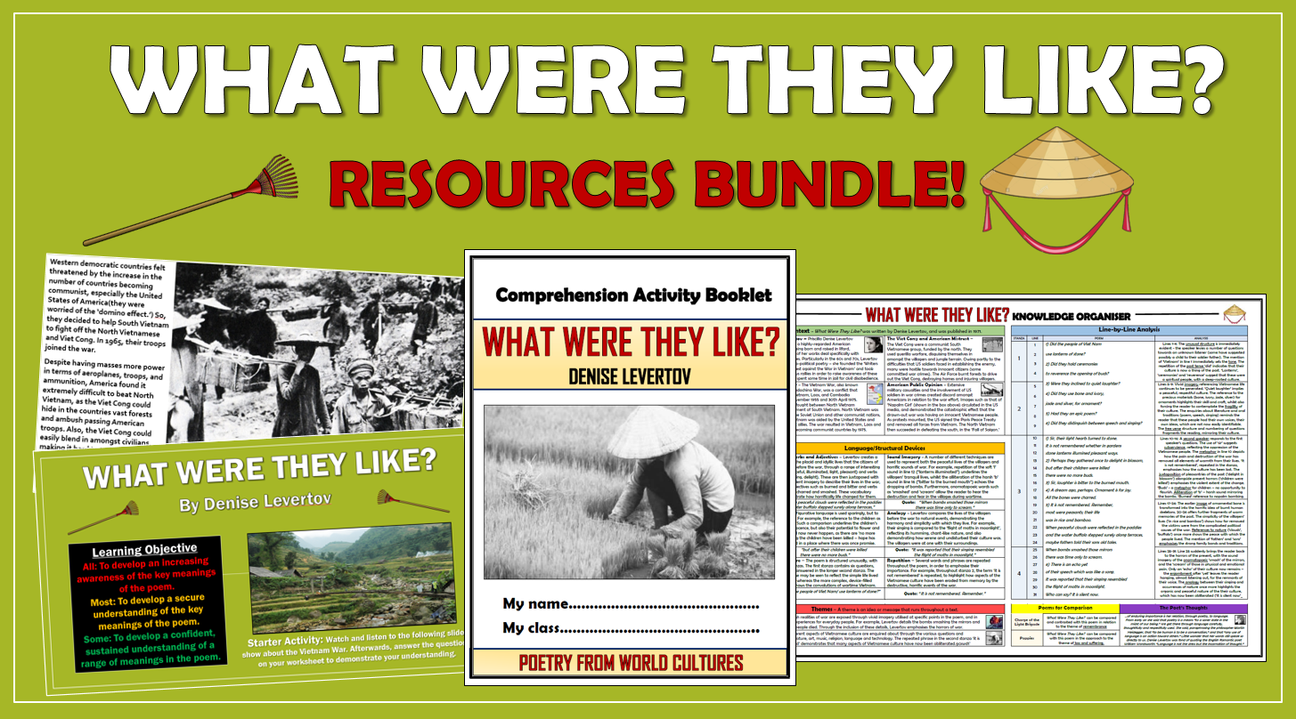 What Were They Like? Resources Bundle!