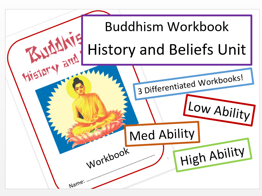 Buddhism: Differentiated Workbook Bundle!