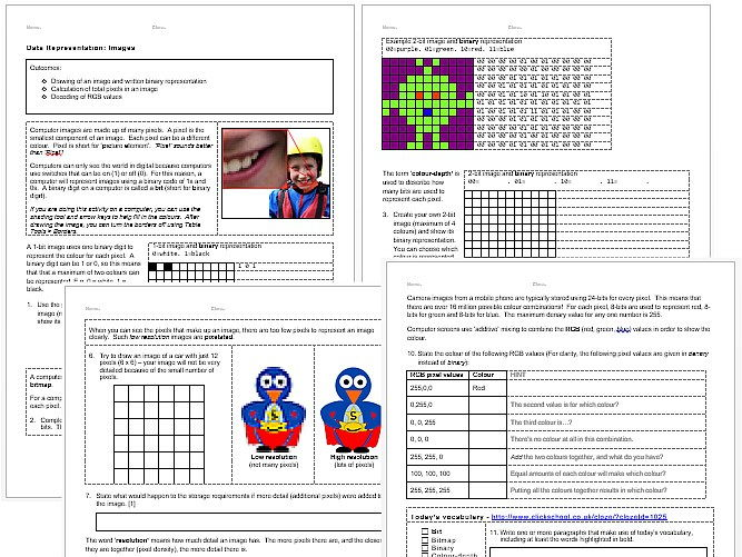 Introduction to Binary Code by hannahskellam Teaching Resources – Binary Code Worksheet