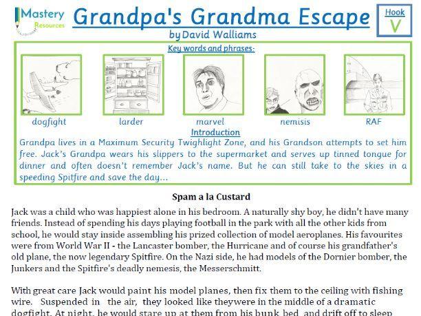 Grandpa's Great Escape by David Walliams Comprehension KS2
