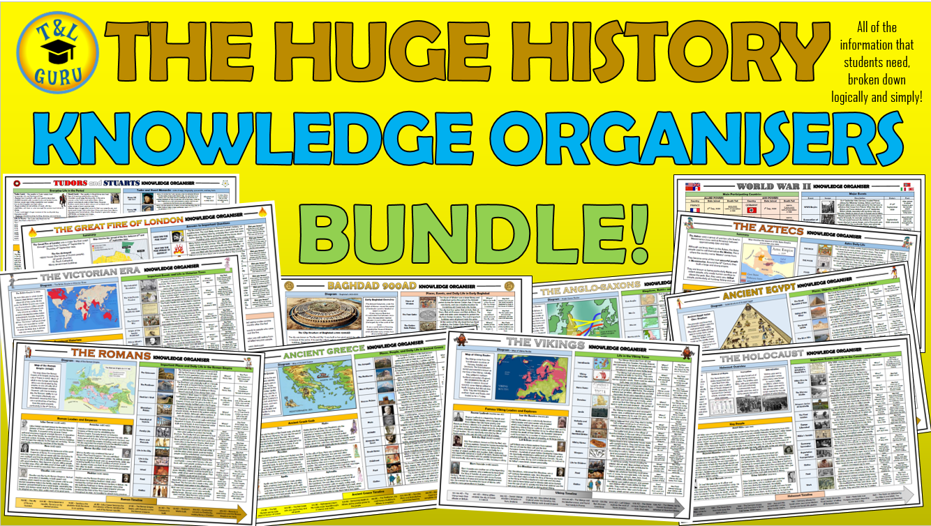 The Huge History Knowledge Organisers Bundle!