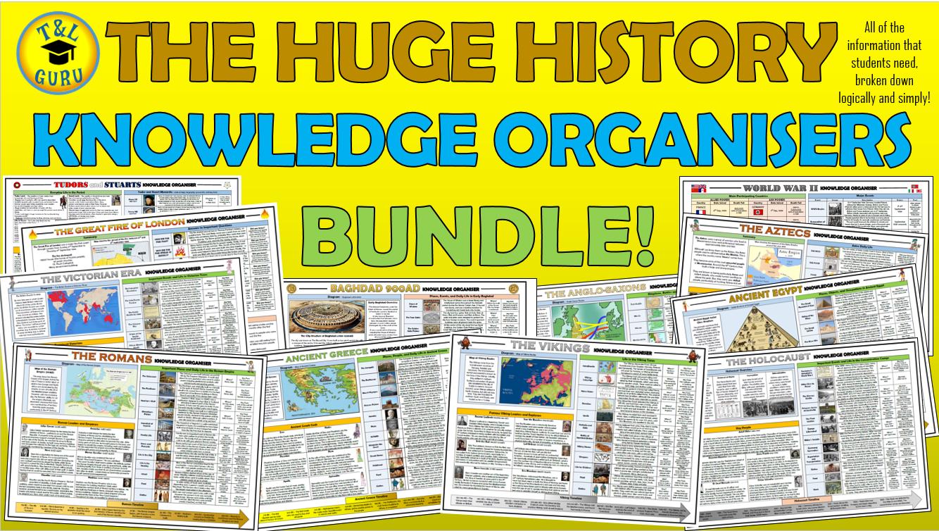 The Huge History Knowledge Organisers Bundle!