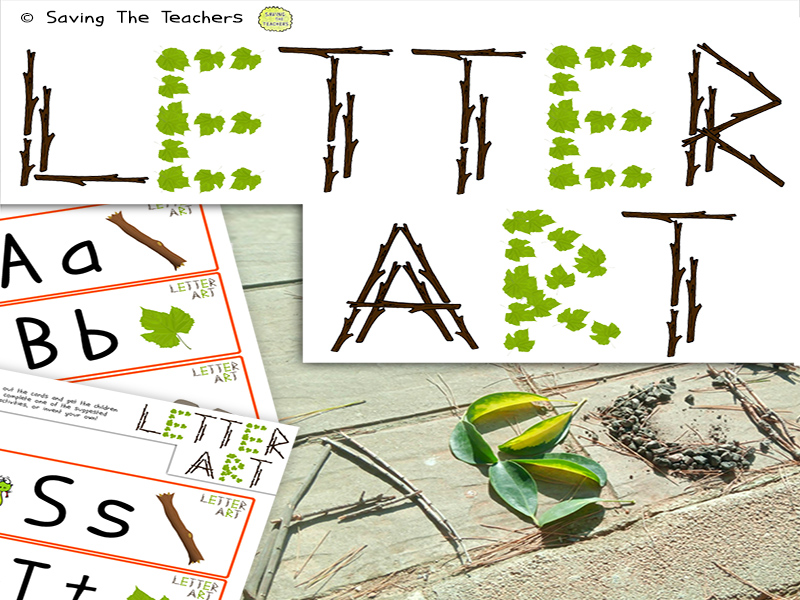 Letter Recognition Outdoor Activity