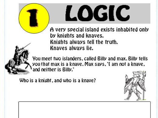 Logic Puzzle 1 (with answer)