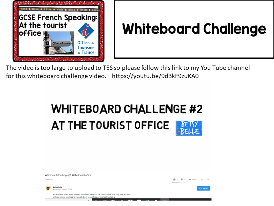 GCSE French Role Play: At the Tourist Office Video