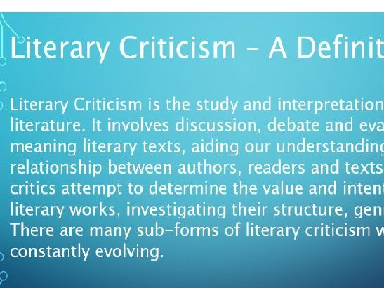 Introduction to Literary Criticism including Feminism and Marxism