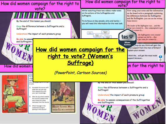 How did women campaign for the right to vote? (Women's Suffrage)