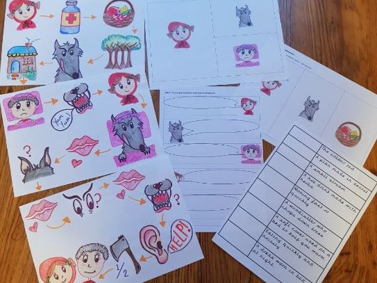 Little Red Riding Hood Story Map and worksheets