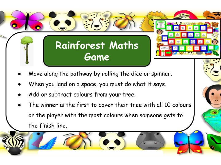 Rainforest Maths Game KS1/SEN/EYFS