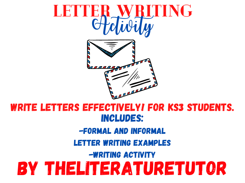 (Remote Learning) Letter Writing Activity