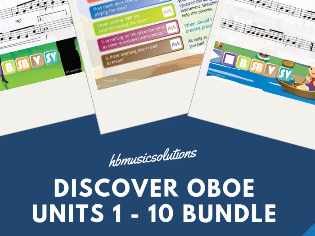 Discover Oboe Music Bundle Units 1-10