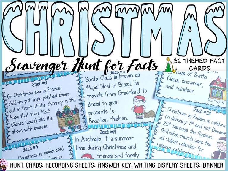 CHRISTMAS: AROUND THE WORLD SCAVENGER HUNT by Fortheloveofkids3 ...
