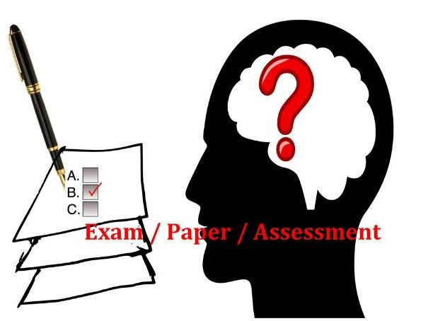 English exam paper for grade 7 or 8 with grammar, reading comprehension and creative writing parts