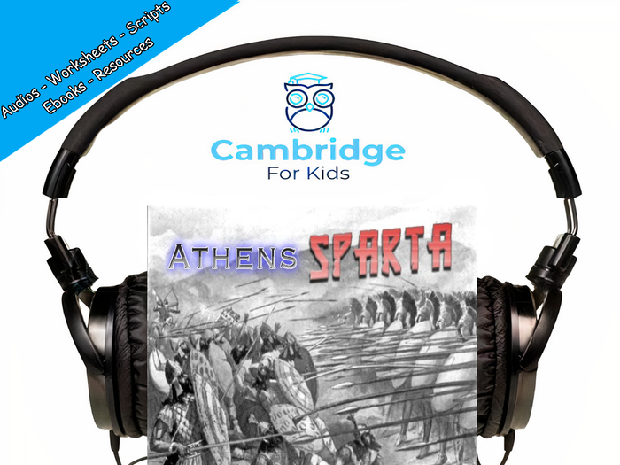 Athens and Sparta Audiobook & Comprehension Activities / Worksheets / eBooks