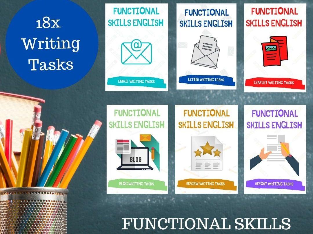 Functional Skills English / GCSE  Writing. 18X Task Bundle. Level 1 & Level 2