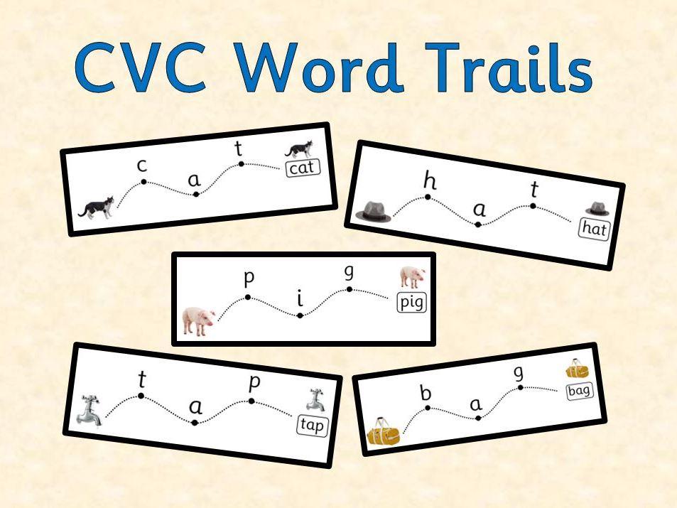CVC Word Trails - Blending activity for reading intervention (Phase 2)