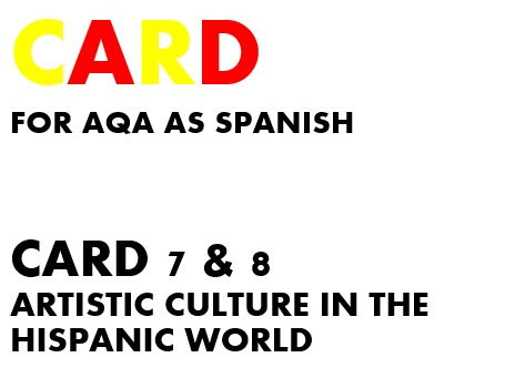 SPEAKING CARDS 7 & 8 for AQA AS SPANISH (new specification)