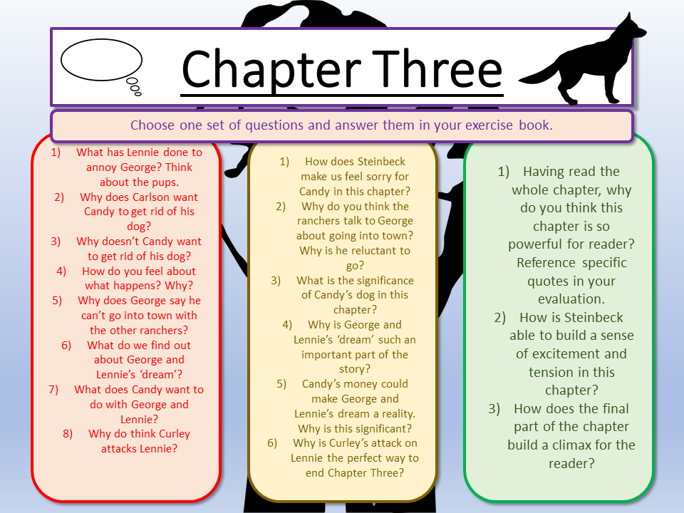 chapter 3 of mice and men questions