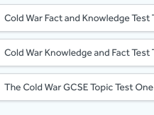 Cold War Knowledge and Fact Tests