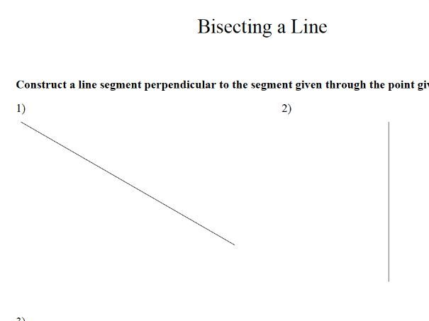 GCSE Maths Revision Bisecting A Line