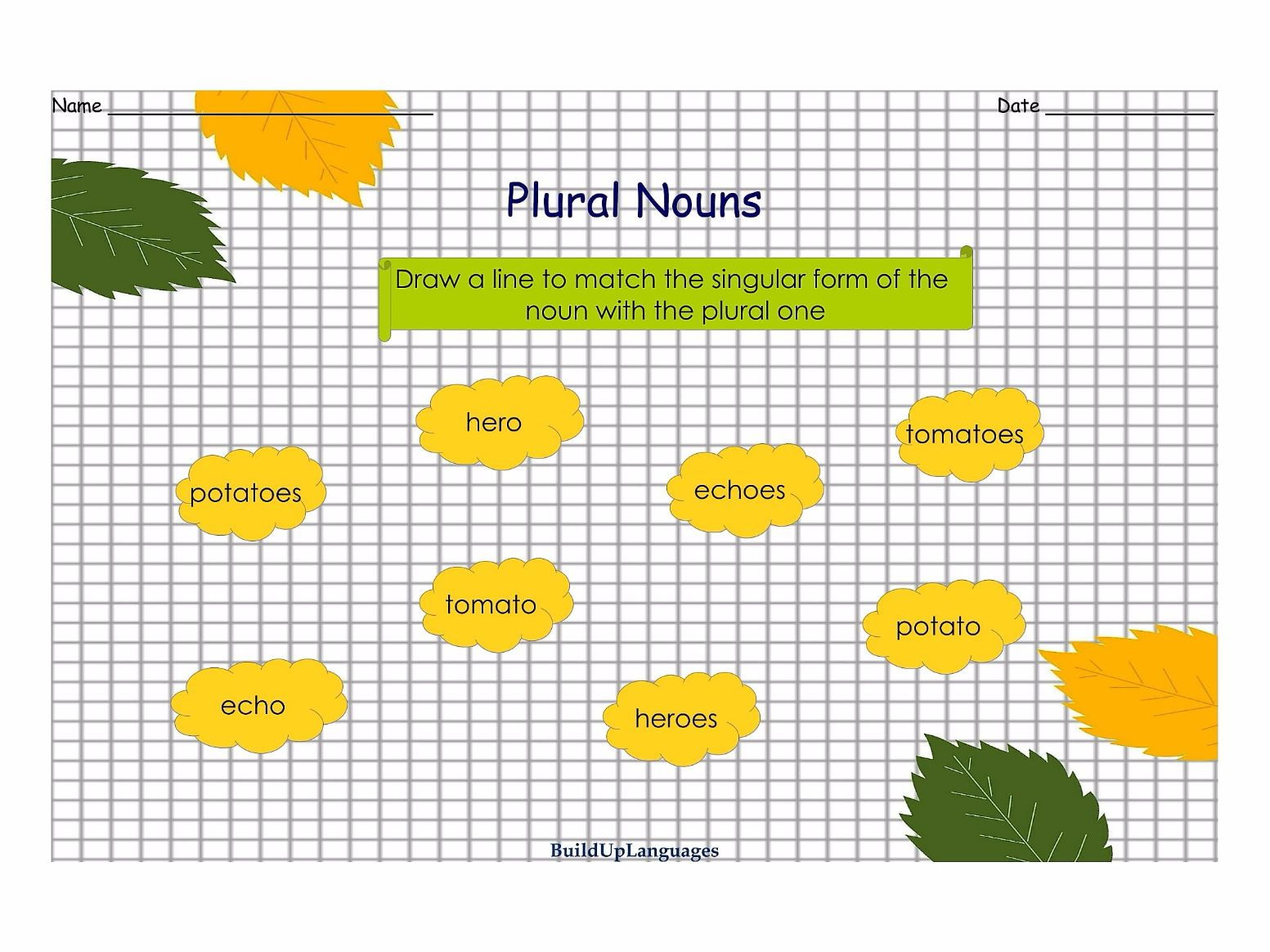 Plural Nouns Practice 2, worksheets and games