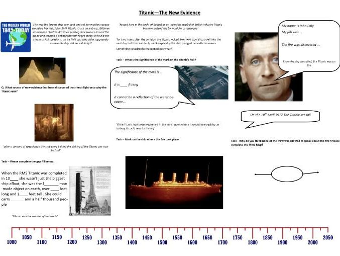 Titanic—The New Evidence - Worksheet to support the 2017 Channel 4 Documentary