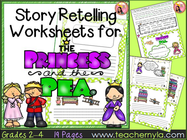 The Princess and the Pea - Retelling Worksheets