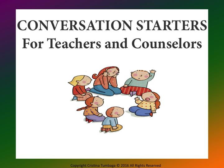 Conversation Starters- Freebie