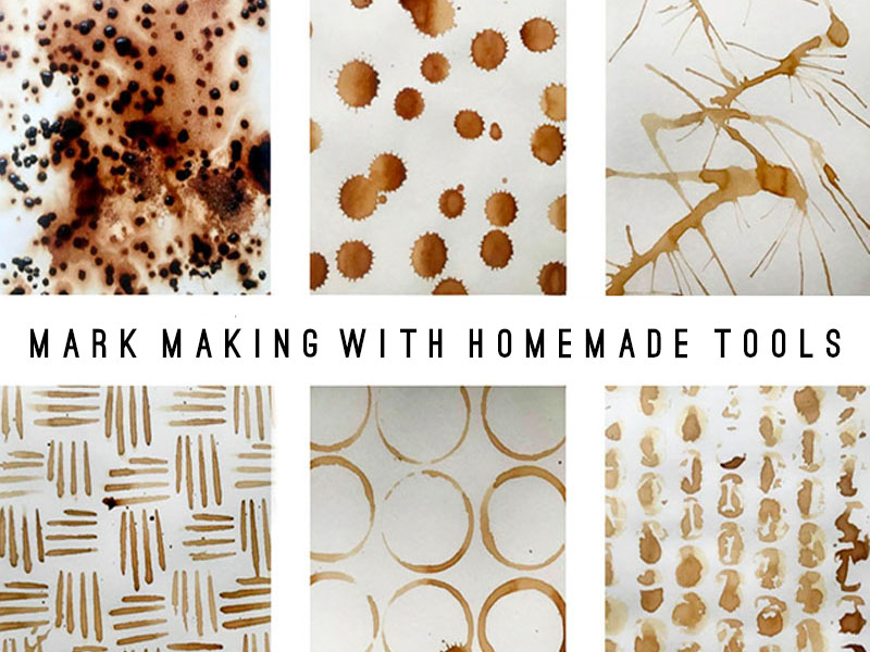 Mark Making with Home Made Drawing Tools