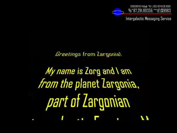 Zorg the Alien Powerpoint transition project