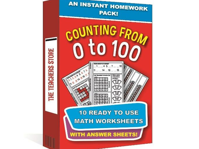 Counting From 1 to 100 - An Instant Worksheet Pack