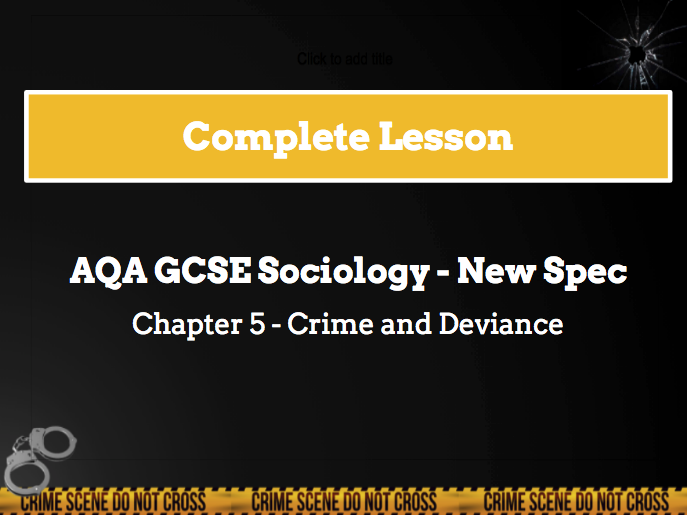 Lesson 4 - Formal and informal social control