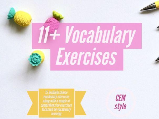 11+ CEM Vocabulary