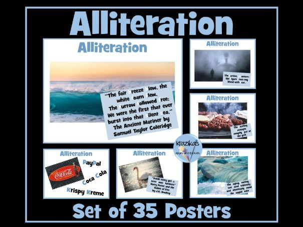 Alliteration Posters