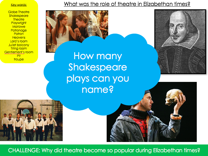 What was the role of theatre in Elizabethan times?
