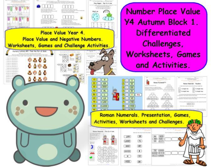 Number Place Value Y4 Autumn Block 1 KS2 Differentiated Challenges for White Rose Small Steps