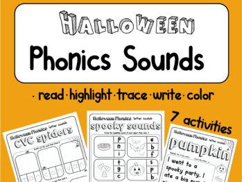 Halloween Phonics Fun | Letter sounds | CVC words | tricky words | sight words