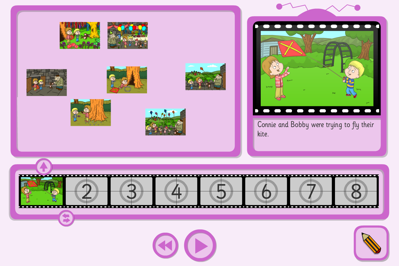 The Ogre's Birthday Sequence and Retell Interactive Activity - KS1 Literacy