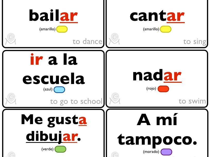 Spanish Bingo - Lo que me gusta hacer