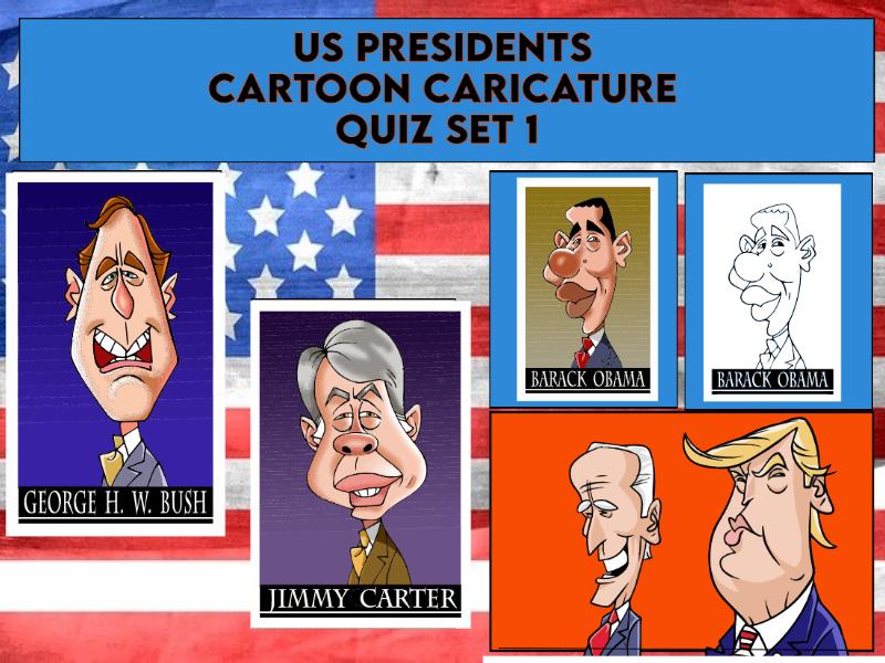 US Presidents Caricatures Quiz Set 1