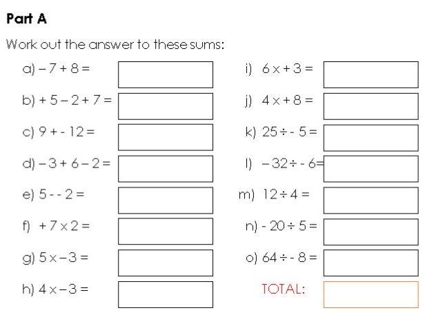 Year 8 Autumn Math Assessment