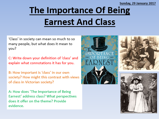 essay on the importance of being The importance of being earnest by oscar wilde uses satire to ridicule the cultural norms of marriage love and mind-set which were very rigid.