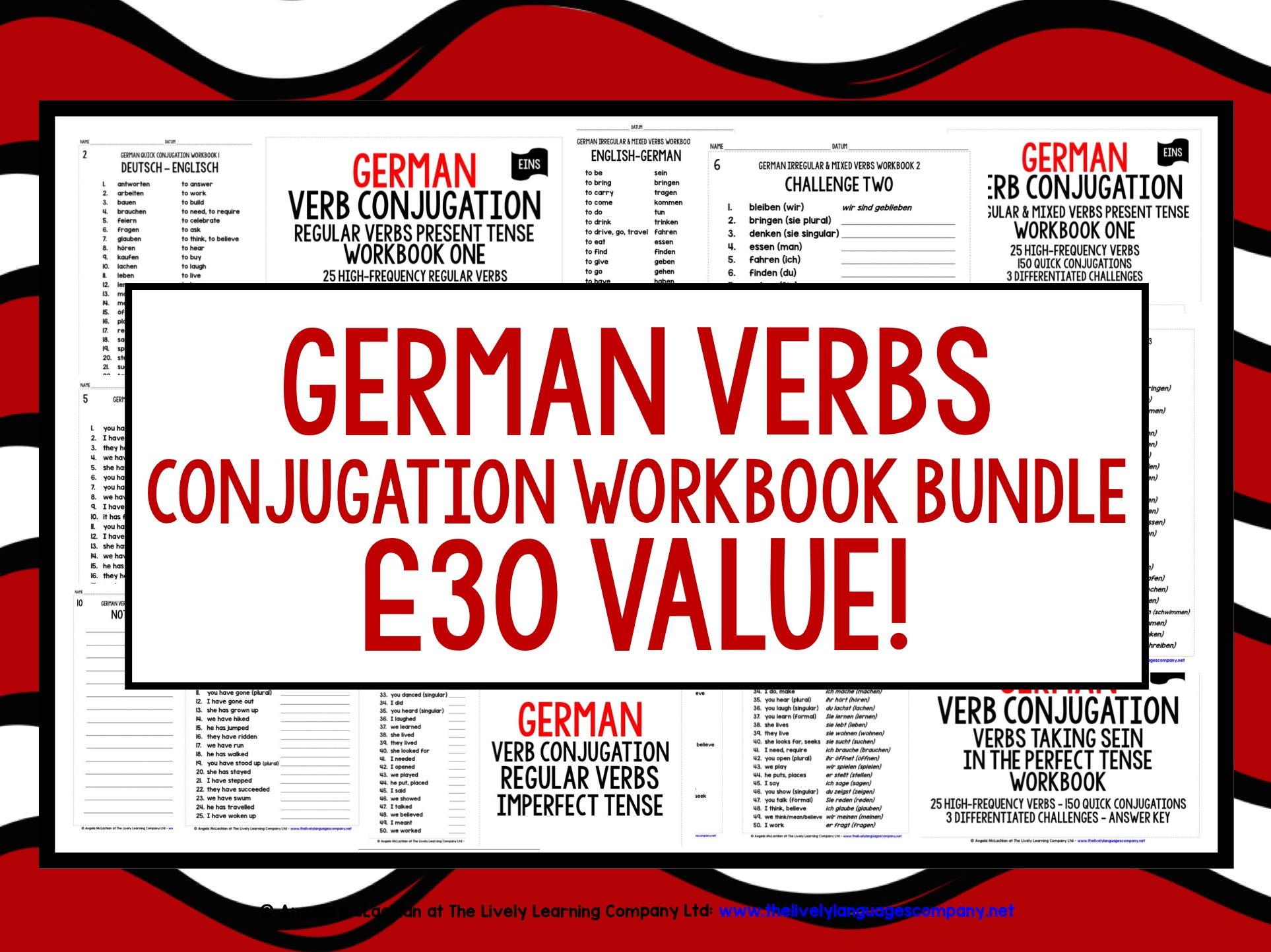 GERMAN VERBS CONJUGATION (1)