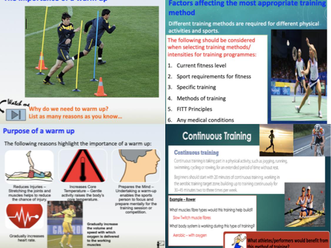 GCSE PE - Component 1, Physical Training Bundle